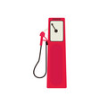 retro compact red petrol dispenser isolated on vector image