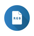 rgb color model flat design long shadow glyph icon vector image vector image