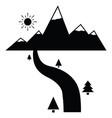 river icon vector image vector image