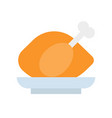 roast chicken flat icon gastronomy set vector image vector image