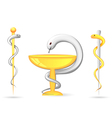 Rod of Asclepius and Bowl of Hygieia vector image vector image