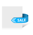sale ribbon vector image vector image