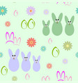 seamless background with silhouettes of easter vector image