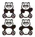 set of panda bears vector image