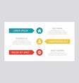 set turquoise and red yellow elements for info vector image vector image