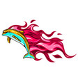 set two fiery dolphins vector image vector image