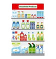 Showcase with hygiene items vector image