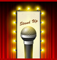 stand up comedy show - microphone and retro movie vector image vector image