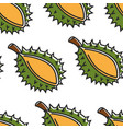 thailand exotic fruit durian seamless pattern thai vector image vector image