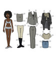 the afroamerican paper doll vector image