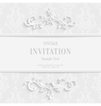White Floral 3d Christmas and Invitation vector image vector image