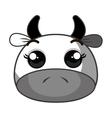 cute cow kawaii character vector image