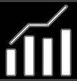 growth chart the white color icon vector image