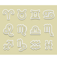 horoscope symbols vector image