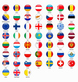 Set of flags of all countries of Europe vector image