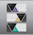 triangle banner design templates web banner vector image