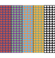 Pixelated hearts pattern vector image