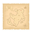 template of pirate old treasure map vector image