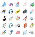 academic degree icons set isometric style vector image vector image