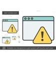 alert window line icon