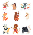 animals with music instruments zoo musicians vector image