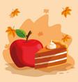 apple fruit design vector image