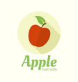 apple isolated flat style round icon vector image