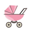 baby carriage cartoon vector image
