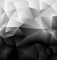 Background Abstract Polygon Black and white vector image vector image