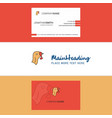 beautiful turkey logo and business card vertical vector image