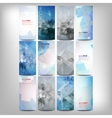 Big colored abstract banners set Conceptual vector image