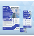 blue annual report with pattern triangles vector image