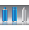 blue spray can vector image vector image
