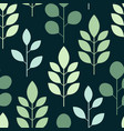 botanical seamless pattern whit leaves on on a vector image vector image