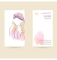 Business card vertical vector image vector image