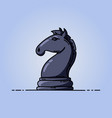 chess black knight flat icon vector image vector image