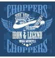 Choppers - vintage bikers badge vector image vector image
