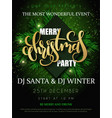 christmas party poster with vector image vector image