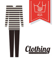 Clothing design vector image