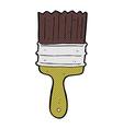 comic cartoon paint brush vector image vector image