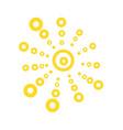 cute funny sun icon bright and beautiful cartoon vector image vector image