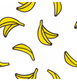Cute hand drawn bananas on a white background vector image vector image