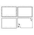 decorative ornamental frames - set vector image vector image