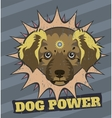 Dog power vector image vector image