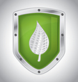 Eco-friendly floral security shield vector image