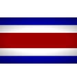 Flag of Costa Rica vector image