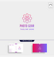 gear photo logo photography industry simple line vector image vector image