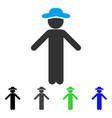 gentleman apology flat icon vector image vector image