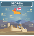 Georgia infographics statistical data sights vector image vector image
