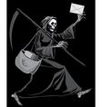 Grim Reaper postman vector image vector image